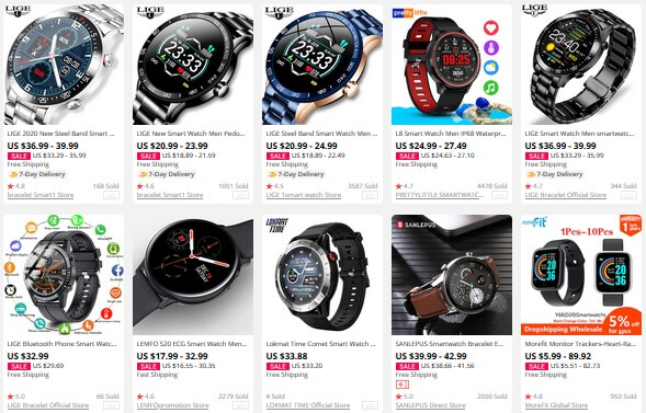 Aliexpress smartwatches